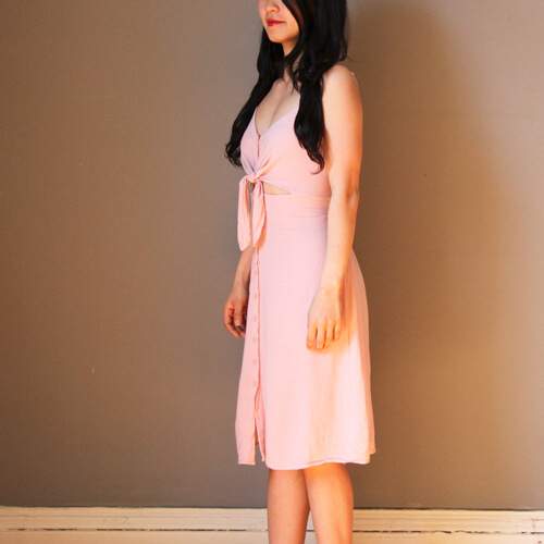 Topshop-Front-Knot-Midi-Dress-Restyling-By-AnyAlterations.com-06