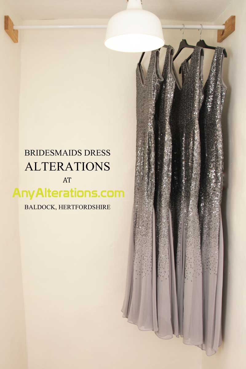 bridesmaid dress alterations AnyAlterations Baldock