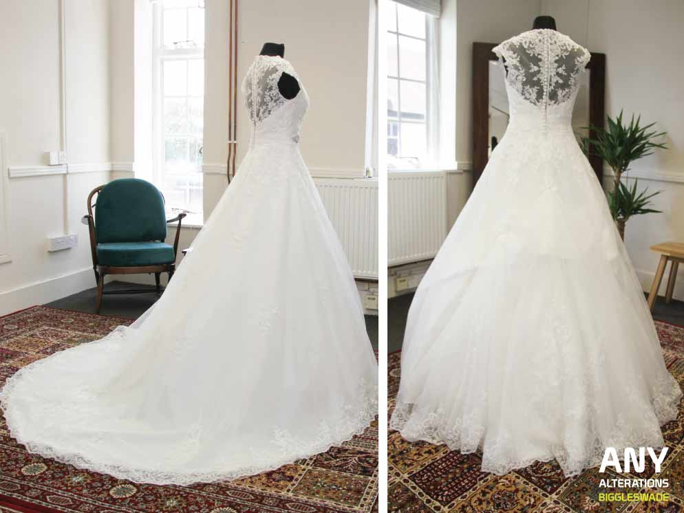 Bustle wedding dress