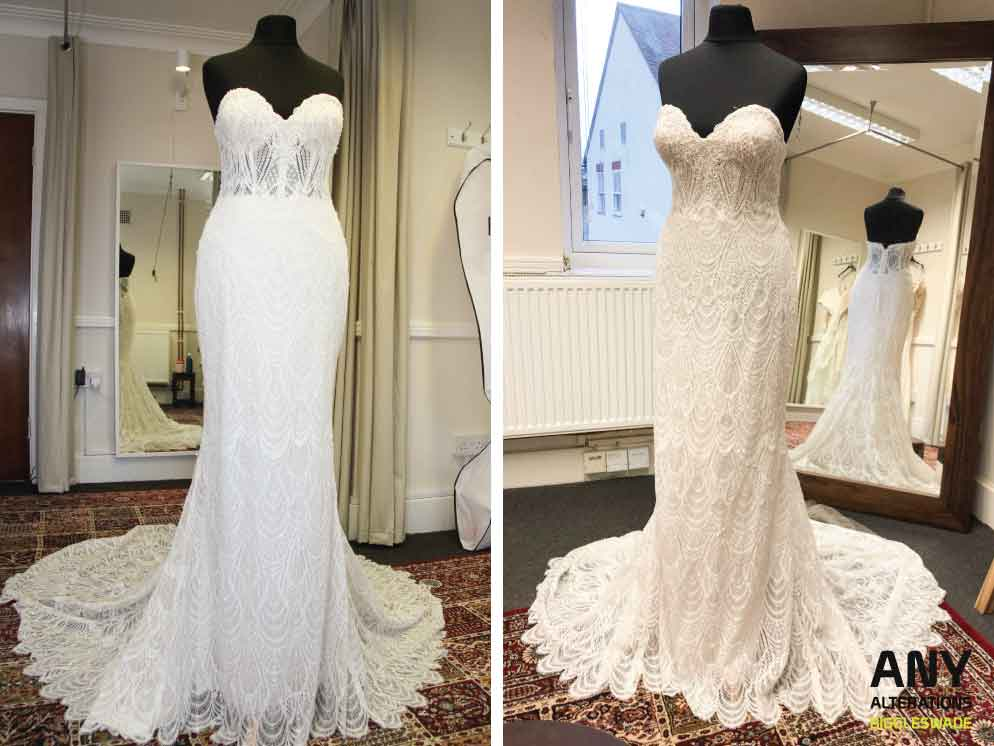 How to line a wedding dress