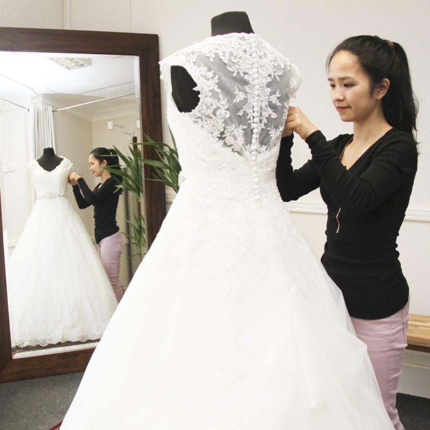 Any Alterations Biggleswade Fitting Room Wedding Dress Alterations 03