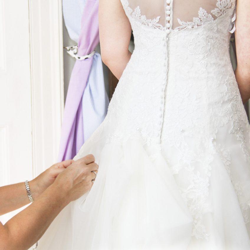 Any Alterations Baldock Wedding Dress Bustle